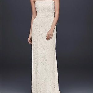Dresses & Skirts - Beaded Lace Sheath Wedding Gown